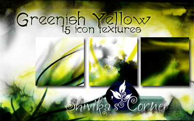 Greenish Yellow Icon Textures by spiritcoda
