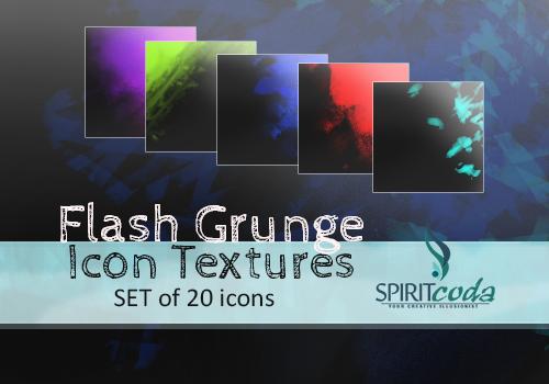 Flash Grunge Icon Textures by spiritcoda