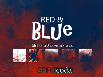 Red and Blue Icon Textures Pack