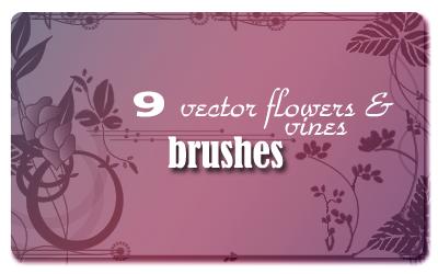 Vector Flowers_vines Brushes by spiritcoda