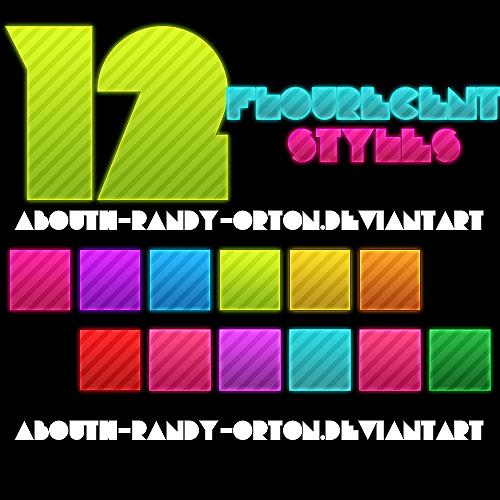 12 Flourecent Styles For Photoshop