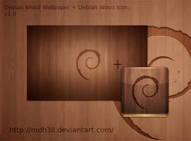 Debian Wood by mdh3ll