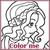 Coloring game - Melusine