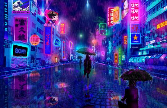 Tsuyu...Plum Rain in Osaka by Odilone