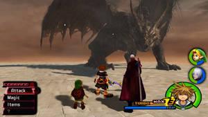 Kingdom Hearts - Ancient Dragon Battle by Vitor-Aizen
