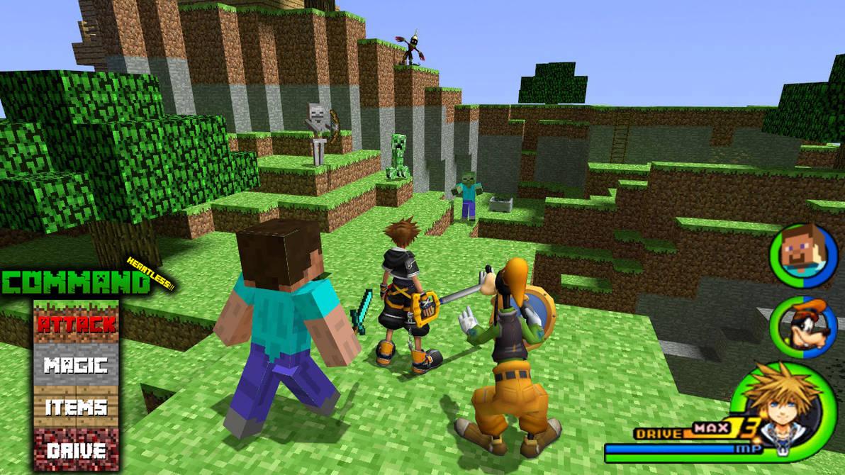 Kingdom Hearts Minecraft World By Vitor Aizen On Deviantart