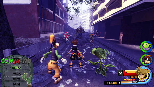 Kingdom Hearts - Plants vs Zombies World