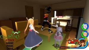 Kingdom Hearts - Kobayashi's Dragon Maid World by Vitor-Aizen