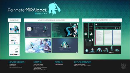 Rainmeter   Mirai Pack (Update#01)