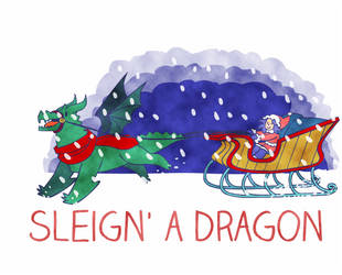 Sleighn' a Dragon Animation by Ominous-Artist
