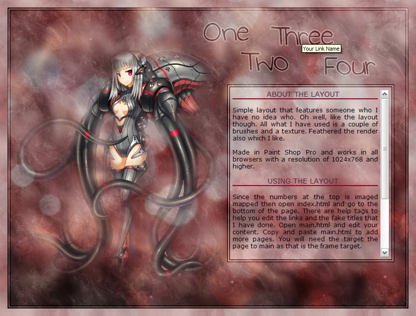 001 - Anime Red / Iframe Layout by BekkiStevenson on DeviantArt