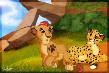 Kion and Fuli. The Lion Guard by AlexisHunter