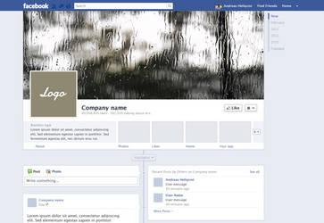 Facebook fan page mockup