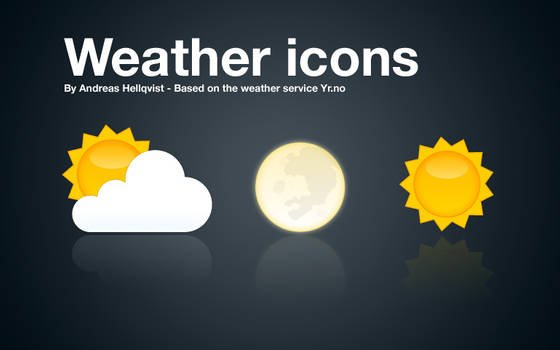 Weather icons for use with YR.no
