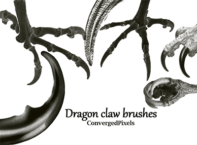 Dragon claw brushes by ConvergedPixels