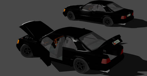 MERCEDES 190 -NOW RIGGED-
