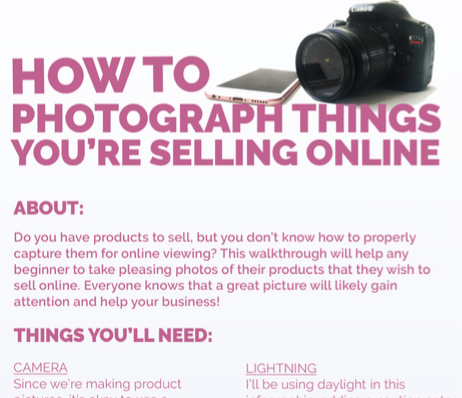 How to photograph things you 39 re selling online by thearta for Things to make to sell online
