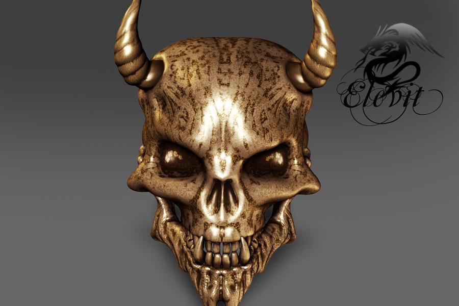 E-S Demon Skull by Elevit-Stock