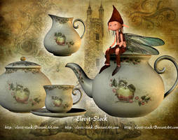 E-S Goblin and tea party by Elevit-Stock