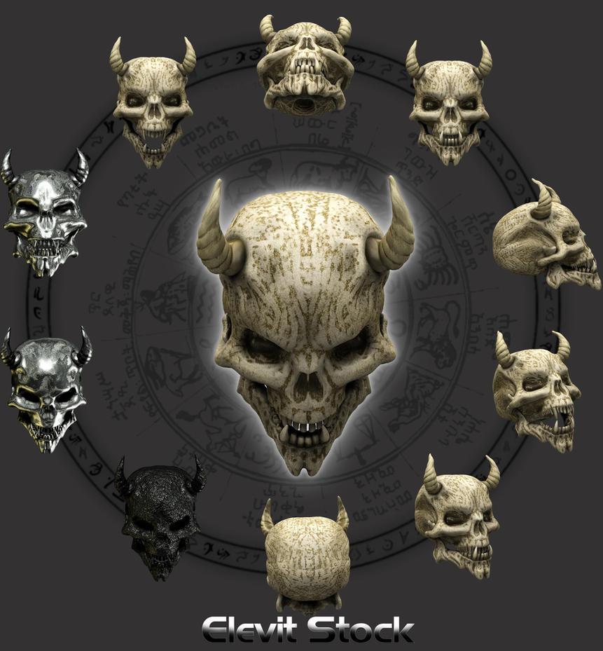 E S Demon Skull by Elevit-Stock