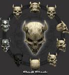 E S Demon Skull