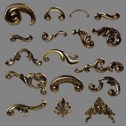 E-S Golden ornaments by Elevit-Stock