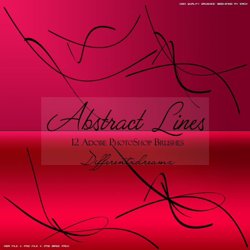 Abstract Lines Brushes by differentxdreamz