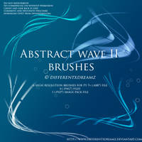 Abstract Wave II Brushes by differentxdreamz