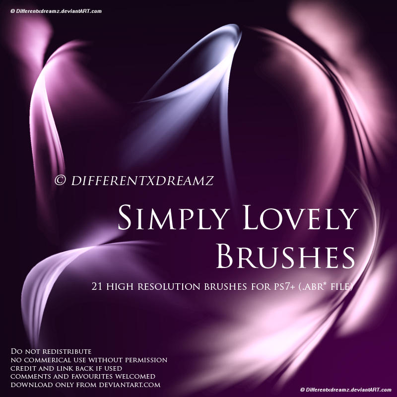 Três excelentes brushes. Simply_Lovely_Brushes_by_differentxdreamz