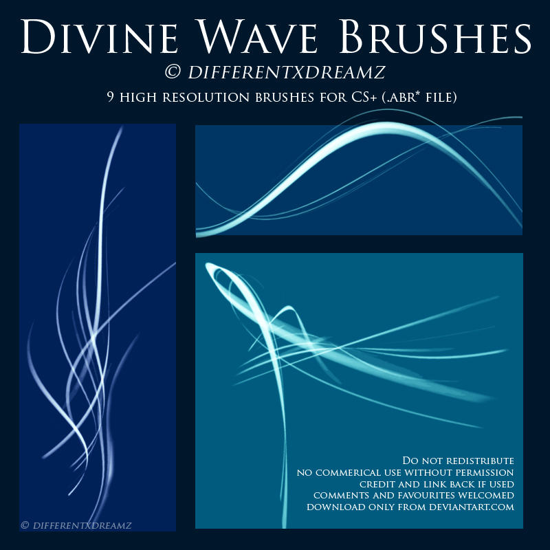 Divine Wave Brushes by differentxdreamz