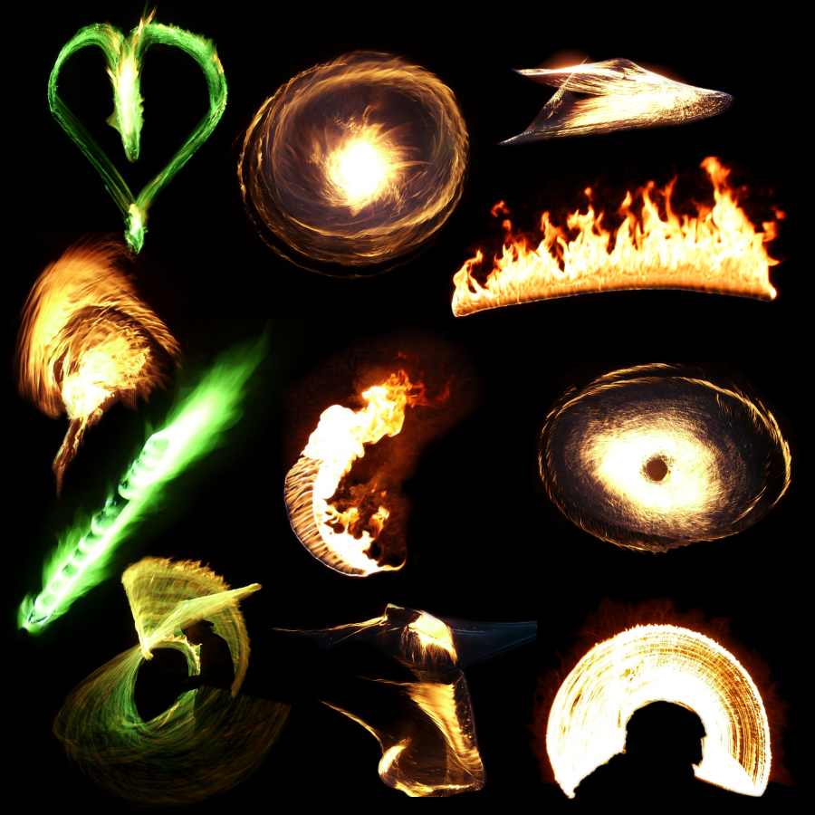 Transparent Flames Pack 4