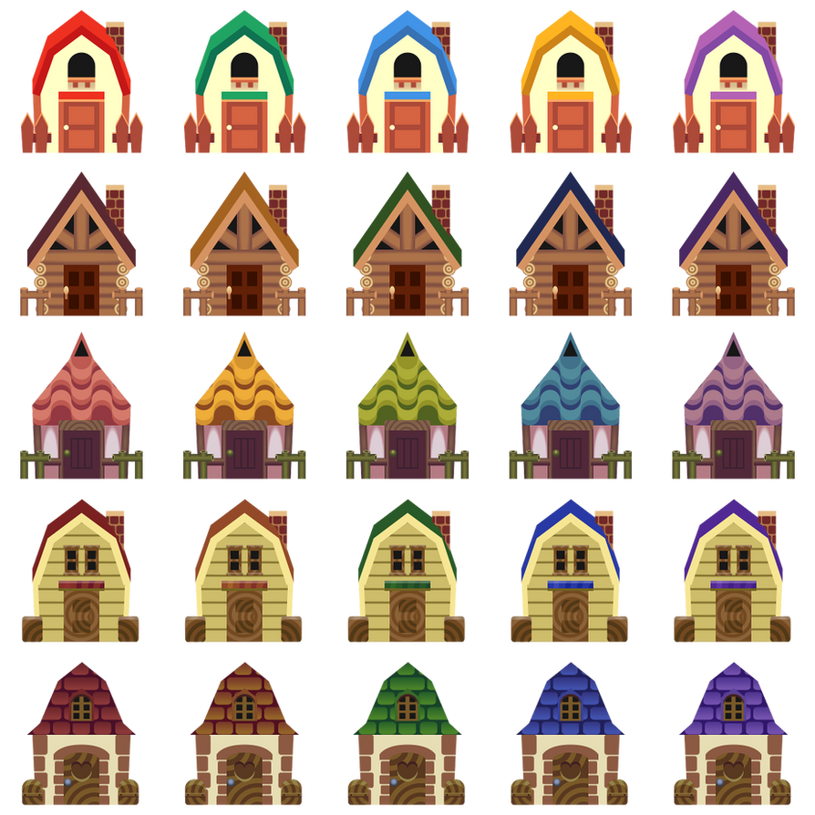 Villager House Vectors By Hybrid-drgn On