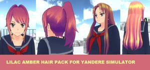 Lilac Amber Hair Skin For Yandere Simulator