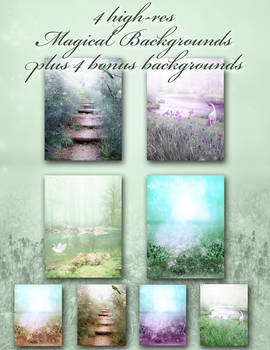 Magical Forest Background Pack