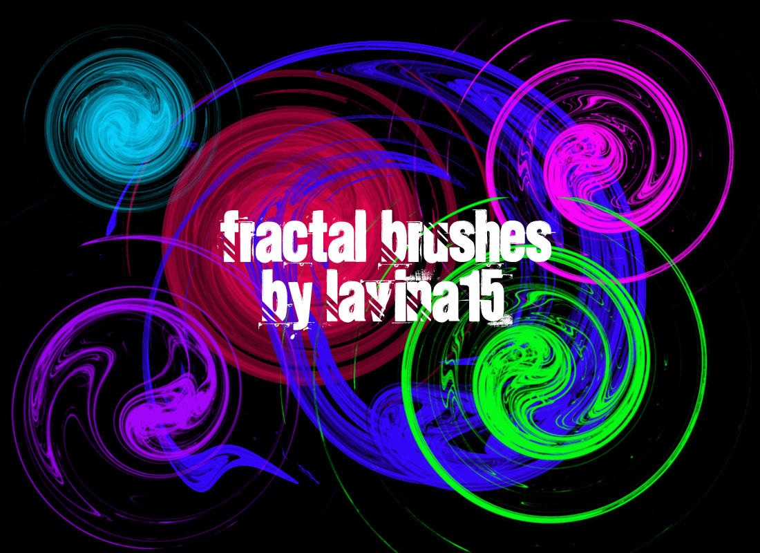 Swirls Fractal Brushes by lavina15