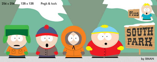 South Park Guys and Butters