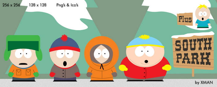 South Park Guys and Butters by neo014