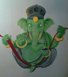Ganesh mural by sm00ps