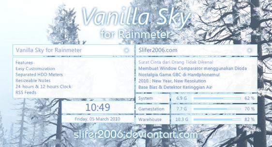Vanilla Sky for Rainmeter by Slifer2006