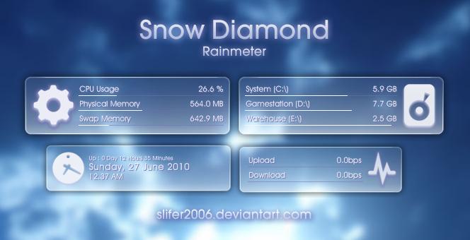 Snow Diamond for Rainmeter by Slifer2006