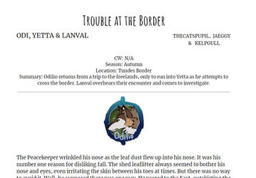 Trouble at the Border (Odilio/Yetta/Lanval)