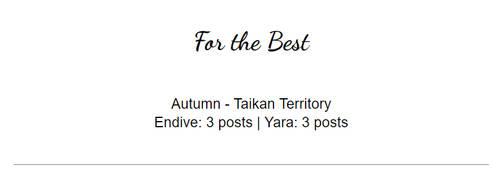 For the Best (Yara / Endive) - SVA