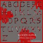 BLOODY ALPHA UPPER CASE