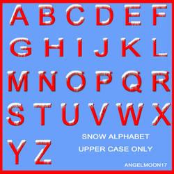 SNOW ALPHABET UPPER CASE