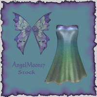 Dress and Wing Stock by AngelMoon17