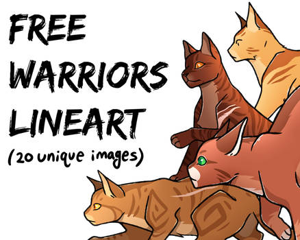 FREE Warriors Lineart Pack 1