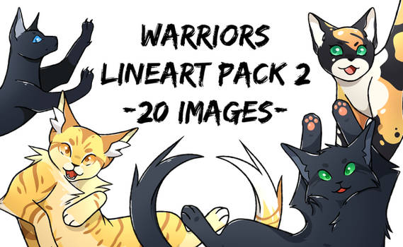 FREE Warriors Lineart Pack 2