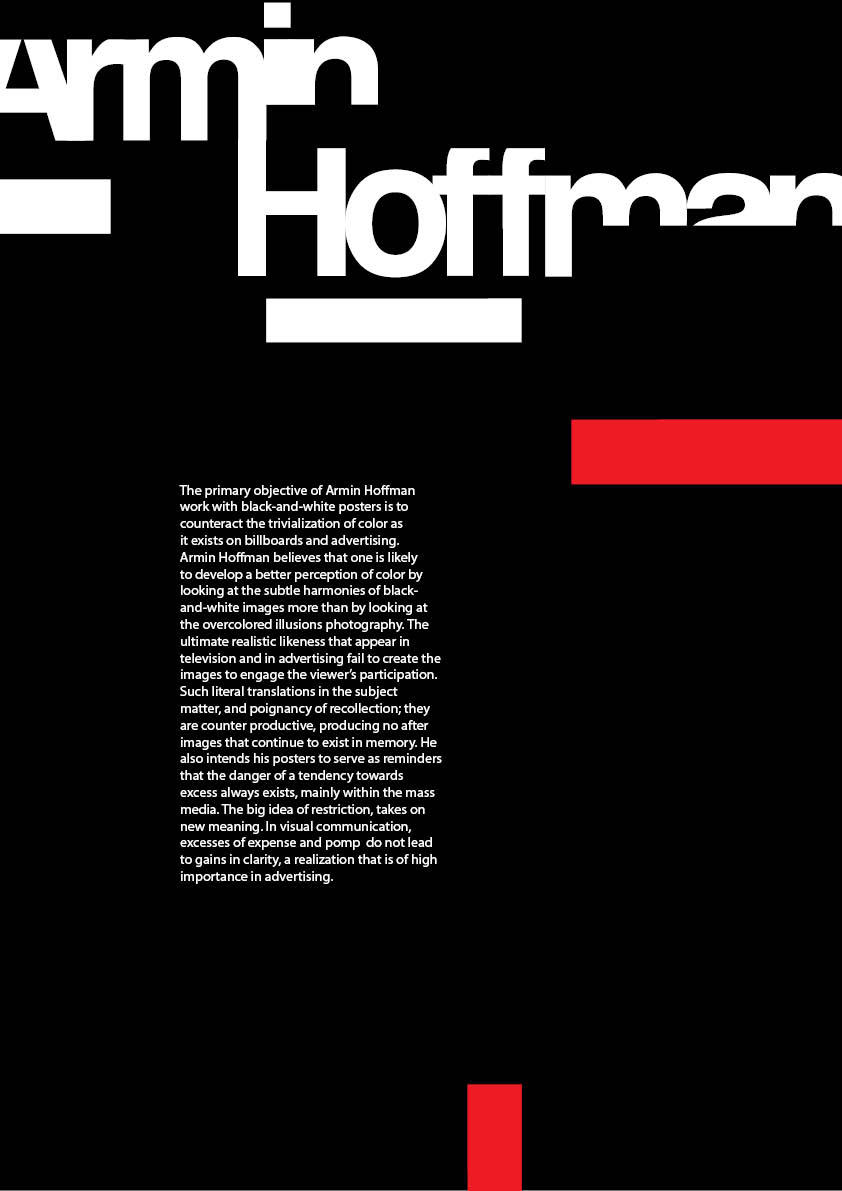 armin hoffman poster by designwise on deviantART