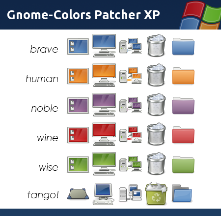 Gnome-Colors Patcher XP by heebijeebi