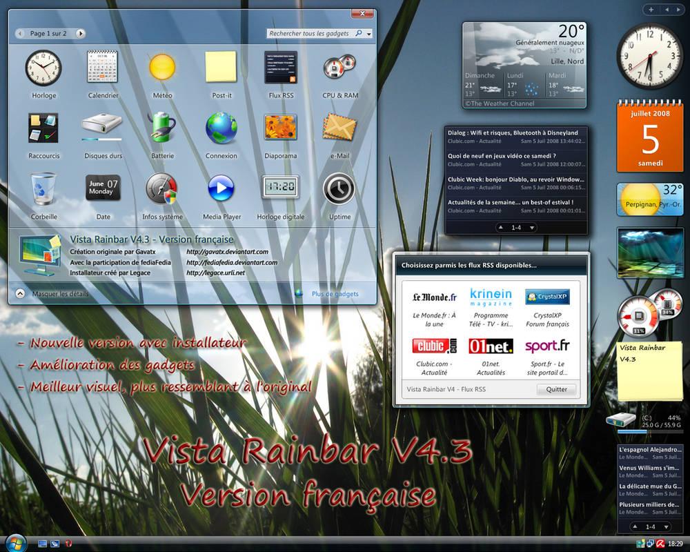 POUR RAINBAR XP VISTA TÉLÉCHARGER